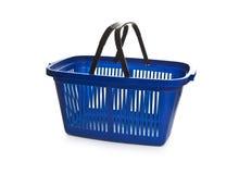 Błękita pusty wózek na zakupy Obraz Royalty Free
