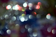 Błękita różowy bokeh, kurenda zaświeca kolorowych odcienie, tło, bokeh fotografia stock