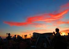 Błękita Różowy niebo Zdjęcia Royalty Free