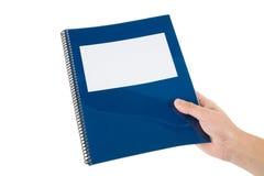 Błękita szkolny podręcznik fotografia stock