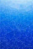 Błękita tła lodowy abstrakcjonistyczny wielobok. Zdjęcie Stock