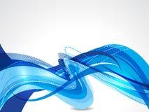 Błękita tła wektoru falowa abstrakcjonistyczna ilustracja Obrazy Stock