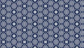 Błękita wzór z gwiazdami Zdjęcie Stock
