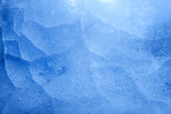 Błękita zbliżenia tła lodowa tekstura Zdjęcia Stock