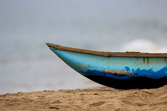 Błękitna łódź fotografia royalty free