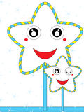 Błękitna świeża kreskówki gwiazda Zdjęcia Royalty Free