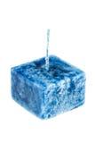 Błękitna świeczka Obrazy Royalty Free