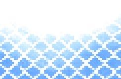 Błękitna abstrakcja, komponująca błękitne cegły Obrazy Royalty Free