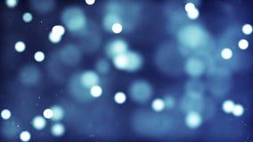 Błękitna abstrakcjonistyczna światła bokeh tła pętla zbiory