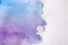 Błękitna abstrakcjonistyczna akwarela malujący tekstury tło ilustracji