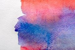Błękitna abstrakcjonistyczna akwarela malujący tekstury tło royalty ilustracja