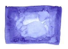 Błękitna abstrakcjonistyczna akwareli tła granicy rama Zdjęcia Royalty Free