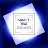 Błękitna abstrakcjonistyczna tło karta Geometryczni kształty, luminescencja, abstrakta światło Ilustracja Wektor