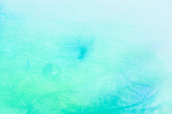 Błękitna akwarela malująca tło tekstura Zdjęcia Royalty Free