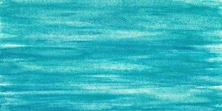 Błękitna akwarela na papier skanującym tle Obrazy Royalty Free