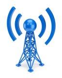 Błękitna anteny ikona ilustracji