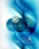 Błękitna aqua fala projektował biznesowego plakat Obrazy Royalty Free
