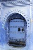 Błękitna architektura Chefchaouen Fotografia Royalty Free
