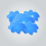Błękitna Błyszcząca chmury grupy karta Obrazy Royalty Free