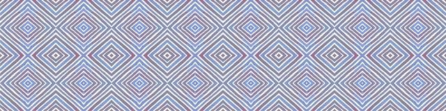 Błękitna Bezszwowa Rabatowa ślimacznica Geometryczna akwarela ilustracja wektor