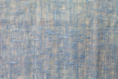 Błękitna bieliźniana tekstura Obrazy Royalty Free