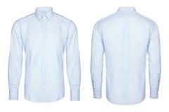 Błękitna biznes koszula i klasyk, biały tło obrazy stock