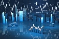 Biznesu finanse mapa, diagram, bar, grafika Fotografia Royalty Free