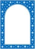 Błękitna boże narodzenie wektoru rama z bielu centrum ilustracja wektor