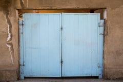 błękitna brama stara Zdjęcia Royalty Free