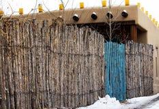 Błękitna brama w Santa Fe, Nowym - Mexico Obraz Royalty Free