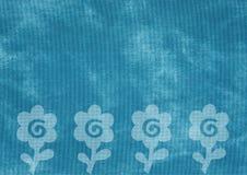 Brezentowa tekstura z zatartymi kwiatami Zdjęcia Royalty Free