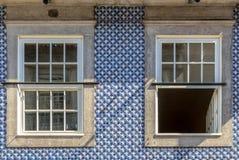Błękitna budynek dekoracja obrazy stock