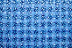 Błękitna ceramicznej płytki mozaika Fotografia Stock