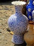 Błękitna Chińska porcelany waza Zdjęcia Royalty Free