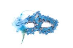 Błękitna, Czarna i srebna twarzy maska, Fotografia Royalty Free