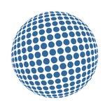 Błękitna 3D Halftone sztuka Fotografia Stock