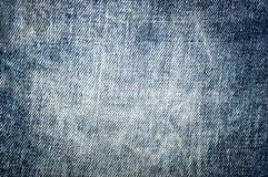 Błękitna demin cajgów tekstura Zdjęcia Royalty Free