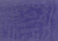 Błękitna drelichowa tekstylna tekstura Obrazy Stock