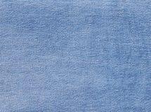 Błękitna drelichowa tekstylna tekstura Zdjęcia Royalty Free
