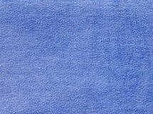 Błękitna drelichowa tekstylna tekstura Obraz Stock