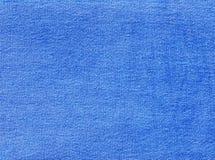 Błękitna drelichowa tekstylna tekstura Fotografia Stock