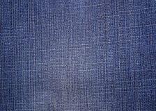 Błękitna drelichu lub cajgów tekstura Zdjęcia Stock