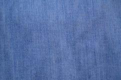 Błękitna drelichu lub cajgów tekstura Zdjęcia Royalty Free