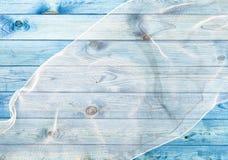Błękitna drewno deski tekstura Obraz Royalty Free