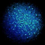 Błękitna dyskoteka zaświeca tło ilustracji