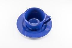 Błękitna filiżanka kawy Fotografia Royalty Free