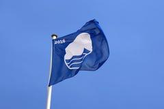 Błękitna flaga w przy Niemcy Obrazy Royalty Free