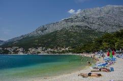 Błękitna góra i morze Fotografia Royalty Free
