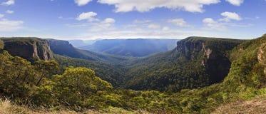 Błękitna góry Govett skoku panorama fotografia royalty free