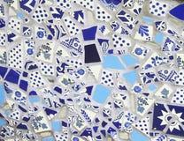 Błękitna garncarstwo płytki mozaika Zdjęcie Stock